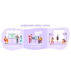 Advertising agency office composition vector