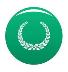 anniversary wreath icon green vector image