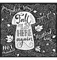 Autumn Lettering vector