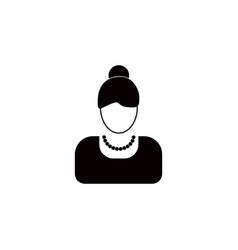 avatar of a woman iconelement of popular avatars vector image