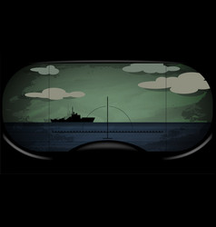 battle submarine periscope vector image