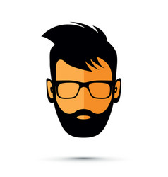 beard man with sunglasses vector image
