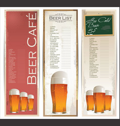 beer list banner collection vector image