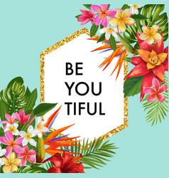 Blooming summer floral frame poster sale banner vector