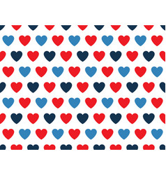 Blue and red heart shape pattern vector