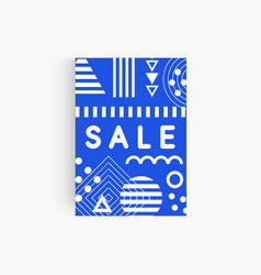 blue geometric memphis backdrop template for sale vector image