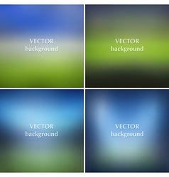 Blurred soccer football stadiums backgrounds set vector image