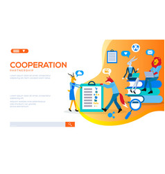 business people spend time at negotiation meeting vector image
