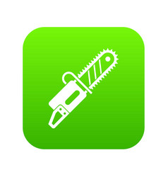 Chainsaw icon digital green vector