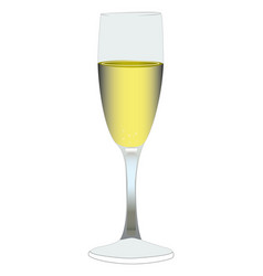 champaign glass vector image