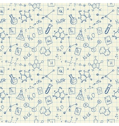 Chemistry doodles seamless pattern vector