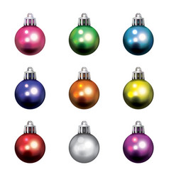 Colorful christmas holiday ornaments isolated vector