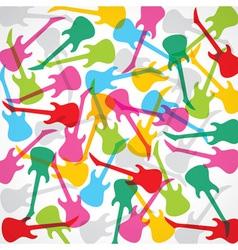 colorful guitar design vector image