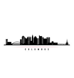columbus city skyline horizontal banner vector image