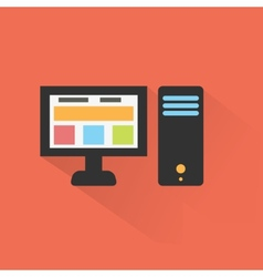 Computer icon flat design vector image
