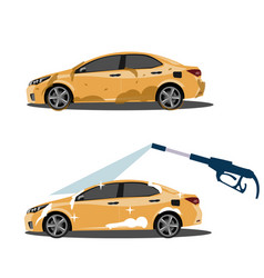 cool on dirty and clean car vector image