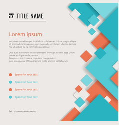 cover modern template blue and orange geometric vector image