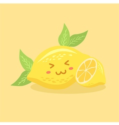 Cute Lemon Fruit vector image