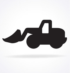 Earthmover digger silhouette simplified vector