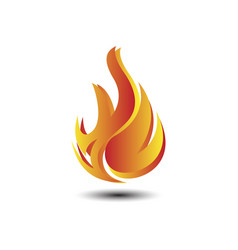 Fire tech logo vector