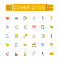 Flat Communication Icons vector image