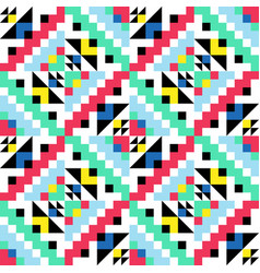 Geometric pattern with colorful elements vector
