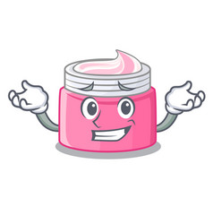 Grinning face cream in the cartoon form vector