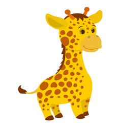 hand drawn giraffe natural colors vector image