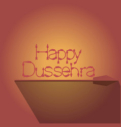 happy dussehra arrow celebration background with vector image