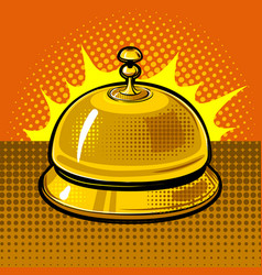 hotel bell vector image