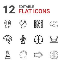 intelligence icons vector image