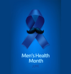 international mens health month celebrated every vector image