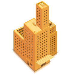 Isometric business big building vector