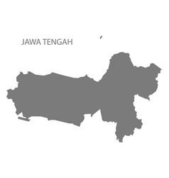 jawa tengah indonesia map grey vector image
