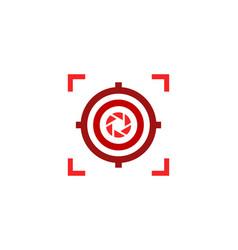 lens target logo icon design vector image