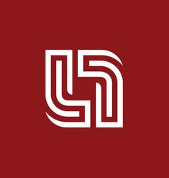 line square swirl balance logo vector image