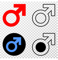 male symbol eps icon with contour version vector image