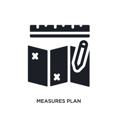 Measures plan isolated icon simple element from vector