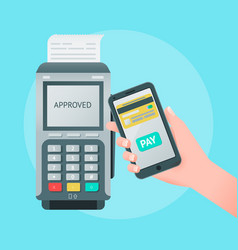 Mobile wireless payment concept vector
