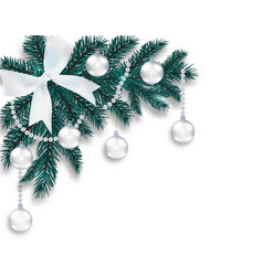 new year s christmas a blue branch of a christmas vector image