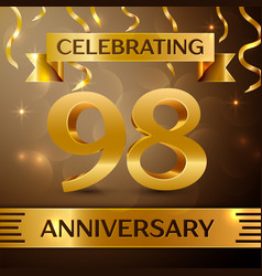 ninety eight years anniversary celebration design vector image vector image