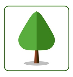 Oak poplar tree icon flat design vector