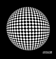 optical sphere concept of vector image