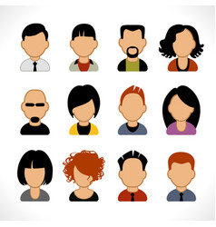 people avatar vector image