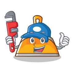 Plumber dustpan character cartoon style vector