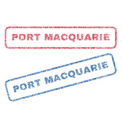 Port macquarie textile stamps vector