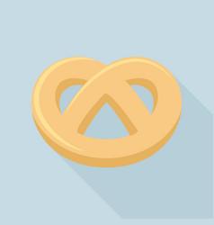 Pretzel icon flat style vector