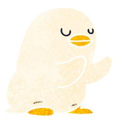 Quirky retro style cartoon duckling vector