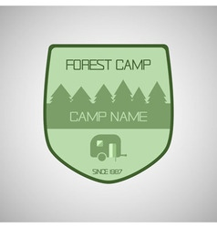 Retro badge and label logo graphic Camp badge and vector