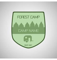 Retro badge and label logo graphic camp badge vector